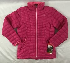 The North Face Girl's Thermoball Puffer Jacket Outdoor Cabaret Pink Size XL