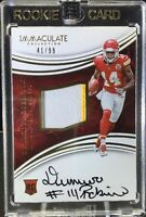 2016 Immaculate DEMARCUS ROBINSON RPA RC 2 CLR Patch OC Auto #41/99 SP Chiefs