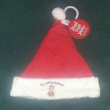 "NEW Carter's Just One Year Newborn Baby ""My 1st Christmas"" Santa Cap (Hat)~NWT"