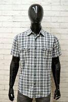Camicia Uomo LEVIS Taglia Size L Maglia Shirt Man Cotone Manica Corta a Quadri