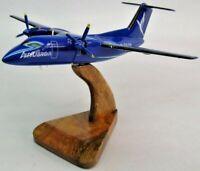 Bombardier Dash 8 Air Labrador Airplane Desktop Kiln Dried Wood Model Regular