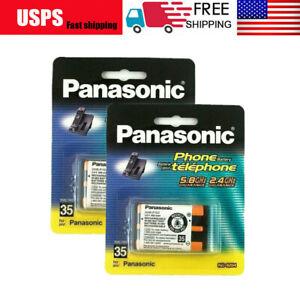 2x Panasonic HHR-P107 3.6V NIMH Rechargeable Batteries for KX-TG Cordless Phone
