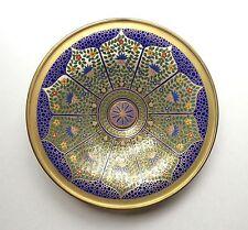 "Fine Bohemian 12"" Antique Persian Style Enameled Glass Bowl, Lobmeyr or Moser ?"