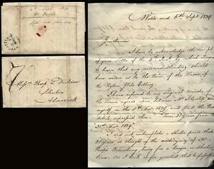 1830 WALLS END letter James Buddle, CIVIL ENGINEER re RYTON GLEBE COLLIERY