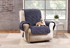 Strom Blue Suede Waterproof Non-Skid Furniture Cover Pet pad slipcover Recliner