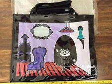 ANNA SUI perfume gift BLACK PURPLE PVC SHOPPER TOTE HAND BAG HANDBAG NEW bnip