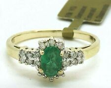 NATURAL 0.73 Cts EMERALD & DIAMONDS RING 10k GOLD* New with Tag * FREE APPRAISAL