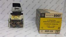 Allen-Bradley 800TJ2A Selector Switch 600V AC Max, 10 AMP Max