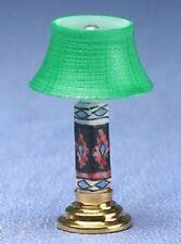 Dollhouse Miniature - .MODERN TABLE LAMP, GREEN SHADE, CHEROKEE - MH914