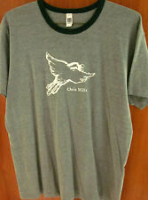 CHRIS MILLS ringer T shirt Chicago folk XL  alt-country tee dove logo Illinois