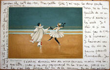 1902 Color Litho Postcard: Pierrot Clowns Dancing - 'Exultation'