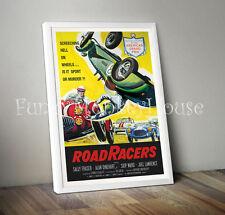A4 ROAD RACERS Vintage Locandina Poster CAR RACING