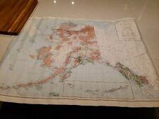 "LARGE Vintage Circa 1987 compiled 1973 ALASKA MAP 48"" X 35"""