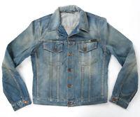 Nudie Herren Slim Fit Denim Jeans-Jacke |Perry Bright Broken | B-Ware |M