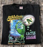 VINTAGE Oakland Athletics Cactus League Spring Training 1997 T-Shirt - Adult XL