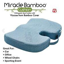 Miracle Orthopedic Bamboo Cushion Comfort Seat Pillow Chair Soft Foam Pad NEW
