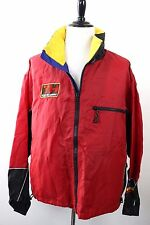 Vintage 90s Tommy Hilfiger Cycling Cycle Red Zip Windbreaker Jacket MINT Mens L