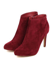 New Women Liliana Suki-1 Faux Suede Almond Toe Single Sole Stiletto Bootie