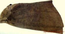 AB1 VTG Dark Brown Leather Skirt Size 12 Saks Fifth Avenue The Anne Klein Corner