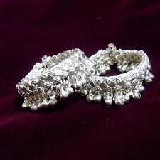 Kids Baby Bangle Bracelet Anklet toned Rabbi Silver Plated Screw Lovely Children