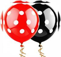 Sepco 12 Inch 100 Pcs Latex Balloons Black and Red with White Polka Dot...