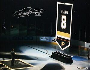 Teemu Selanne Signed Anaheim Ducks 16x20 Photo 3/50 UDA BAM35407