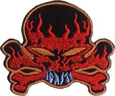 Flaming skull flammes tete de mort-écusson/patch