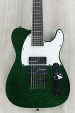 ESP LTD SCT-607 Baritone Stephen Carpenter 7-String Guitar Green Sparkle + Case