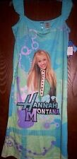 Hannah Montana Blue Nightgown Girl's 10/12 NeW Miley Cyrus Pajamas Sleep Shirt