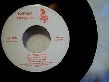 1952 UNIVERSITY OF WISCONSIN CONCERT BAND Souvenir 45,songs to thee,badgers,on