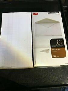 Staples Envelopes, Gummed, Standard Business - 500 count  White
