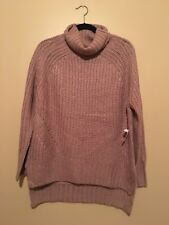 New With Tags Charlotte Russe Pink Turtleneck Sweater Size Small