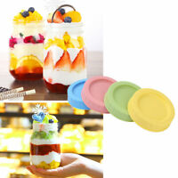 4x Plastic 70/86mm Caps Lids with Silicone Seal Rings for Mason Jars Bottle New