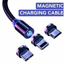 3 в 1 магнитный USB, тип C 8-Pin Зарядное устройство зарядный кабель для телефона iPhone