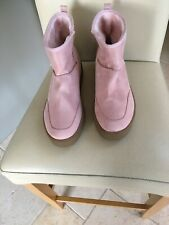 Lost Ink Pink Boots Platform Wedge Sole Size 9