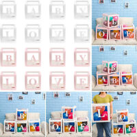 Letter A-Y Cube Transparent Balloon Box For Kid Birthday Surprise Party Decor