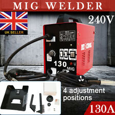 130 Amp MIG Welder Gasless No Gas Gasless Flux 240V Mighty Machine Welding +Mask