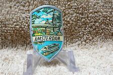 Amsterdam, Netherlands: Vintage 1970s Walking stick medallion.