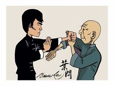 BRUCE LEE IP MAN  wing chun Canvas Print AUTOGRAPH SIGNED kung fu martial arts