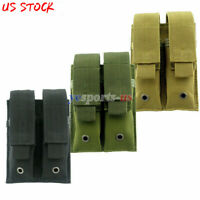 Tactical Molle Double Magazine Pouch Hunting Heavy Duty Pistol Magazine Holder