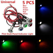 5x8mm LED Pilot Dash Panel Indicator Light Lamp Blue Green Amber Red White 12V