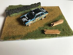 FORD ESCORT Mk2 rally car model on stage diorama RAC Rally Roger Clark