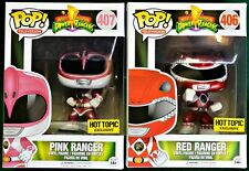 PINK and RED Power Rangers Funko Pop! HOT TOPIC! LOT OF 2!