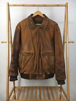 RARE VTG Wilson Leather Men's Flight Bomber Thinsulate Insulation Jacket Size XL