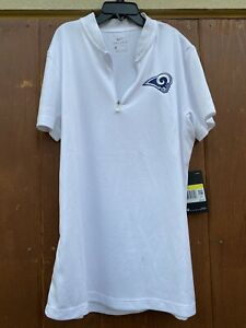 Nike Womens LA Rams White Dri-Fit Polo Shirt Size Small - New With Tag $65