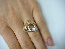14K GOLD VINTAGE FREE STYLE HEART MOTIF LADIES DIAMOND RING 6.7 GRAMS SIZE 5