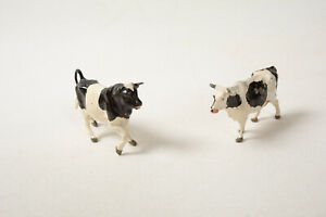 Holstein Bull & Cow Diecast Metal (R3D-7) Great Britains LTD England Farm Animal