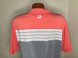 Men's FootJoy Golf S/S Polo Golf Shirt Size Extra Large (XL) Athletic Fit