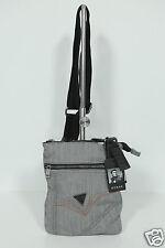 Neu Guess Herren Umhängetasche Messengertasche Tasche Crossbag Grau 10-16 UVP79€