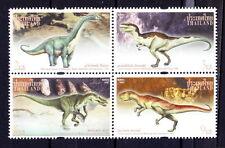 Thailand MNH 4v, Dinosaur, Prehistoric Animals